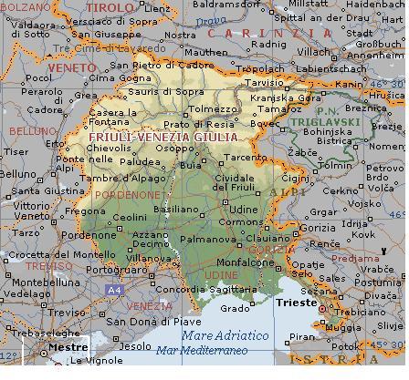 Cartina Friuli Venezia Giulia E Veneto.Abruzzo